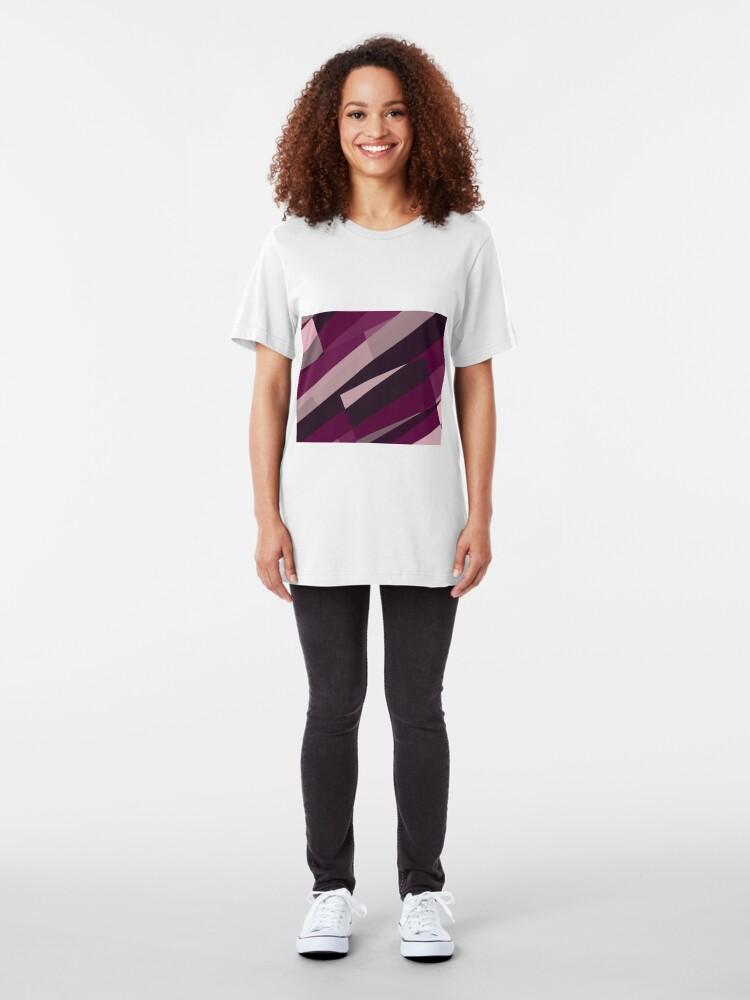 Alternate view of Pink Purple Leopard Design Pattern Slim Fit T-Shirt