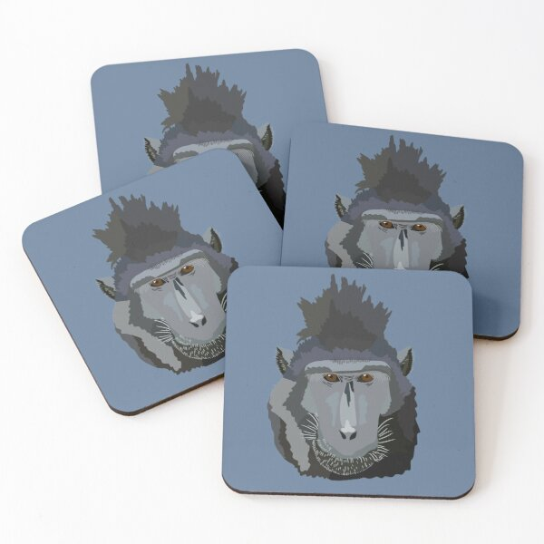 S is for Sulawesi macaque  Coasters (Set of 4)