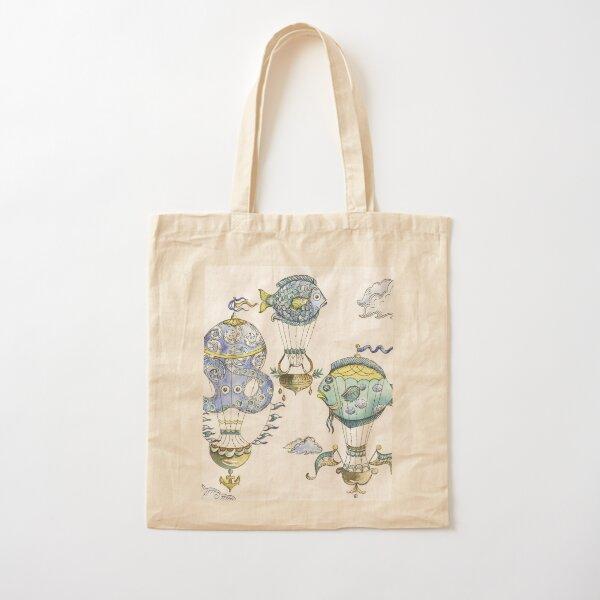 Sea Creature Hot Air Balloons Cotton Tote Bag