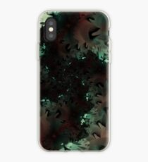 Red Green Snowflake Abstract Design iPhone Case