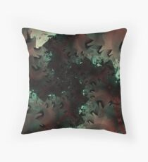 Red Green Snowflake Abstract Design Throw Pillow