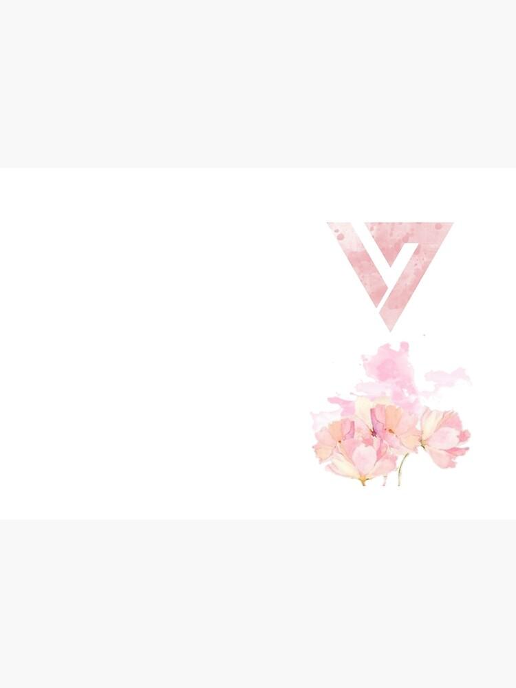 Floral Watercolor Seventeen Logo (Kpop) by manzae