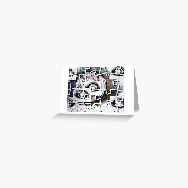 Puzzlespiele Augen Pixel Grußkarte