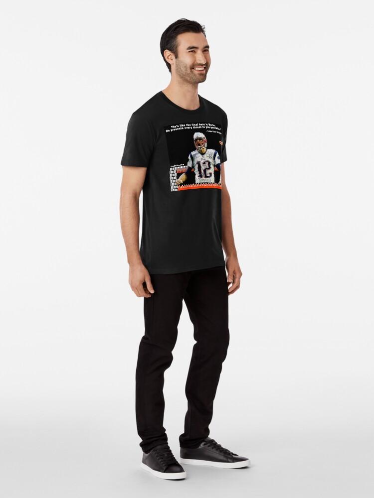 Alternate view of Brady is the Final Boss Premium T-Shirt