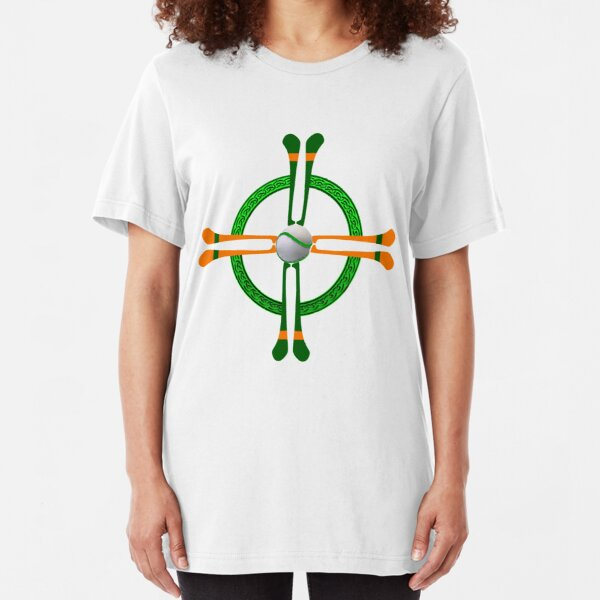 Hurley and Ball Celtic Cross Design - Solid colour background Slim Fit T-Shirt