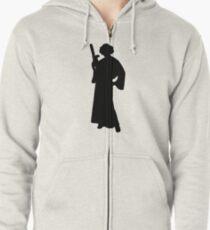 Star Wars Princess Leia Black Zipped Hoodie