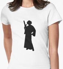 Star Wars Princess Leia Black Women's Fitted T-Shirt