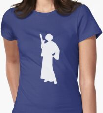 Star Wars Princess Leia White Womens Fitted T-Shirt