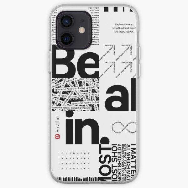 Black and White New Inspired Lululemon Bag Print iPhone Soft Case
