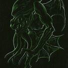 H.P.Lovecraft 's Cthulhu Dark by MikeDubischArt