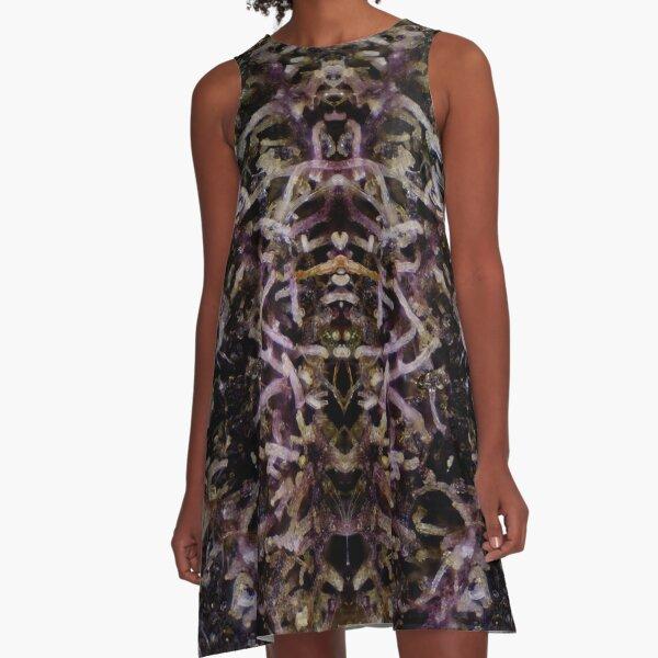 Grape Ape Micrography Mirrored A-Line Dress