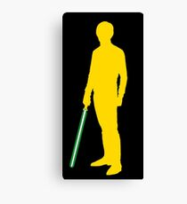 Star Wars Luke Skywalker Yellow Canvas Print