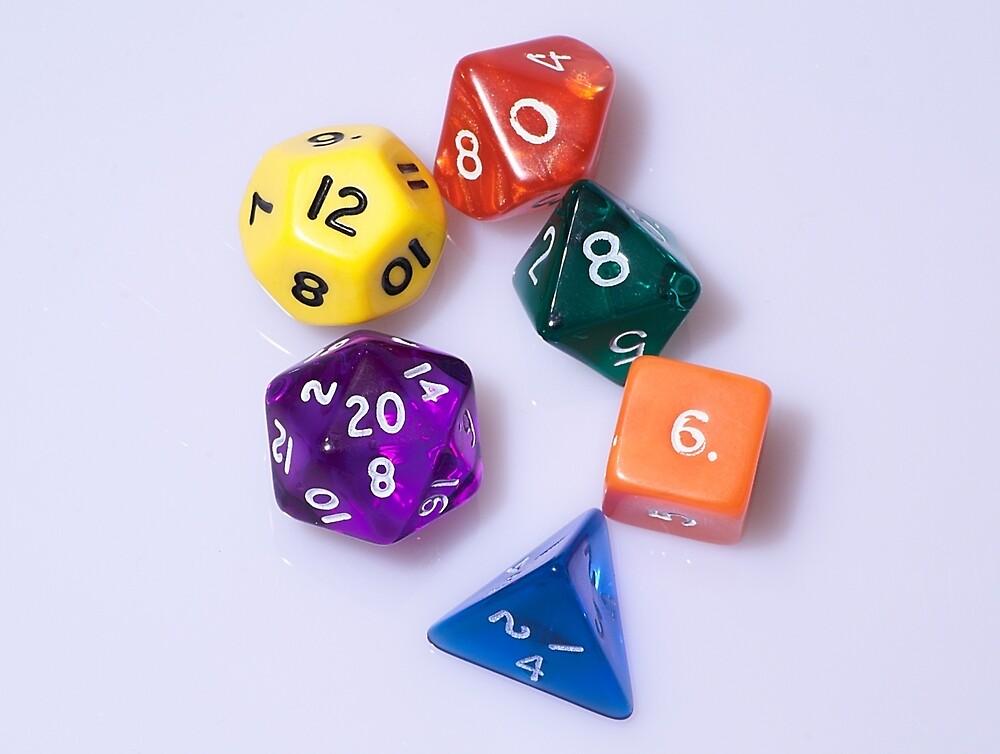 D&D dice by Elisa88