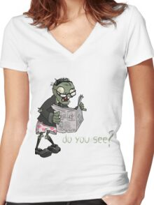 Plants vs Zombies - Do You See? Women's Fitted V-Neck T-Shirt