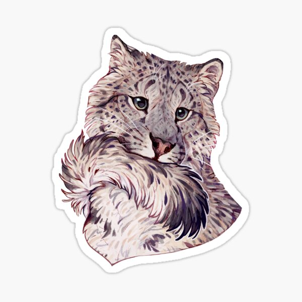 Snow leopard portrait  Sticker