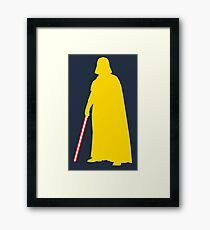 Star Wars Darth Vader Yellow Framed Print