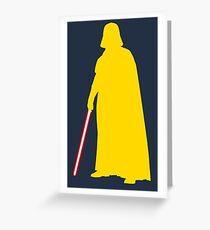 Star Wars Darth Vader Yellow Greeting Card