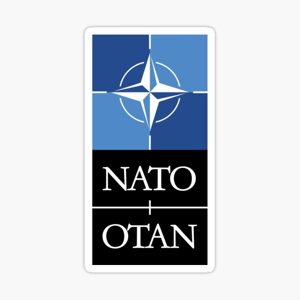 Nato Otan Military Defense Alliance Europe USA Sticker