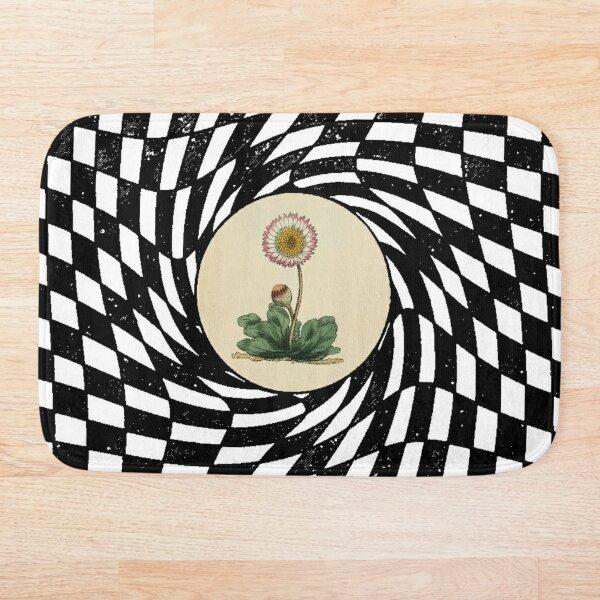 Checkboard swallows flower Bath Mat