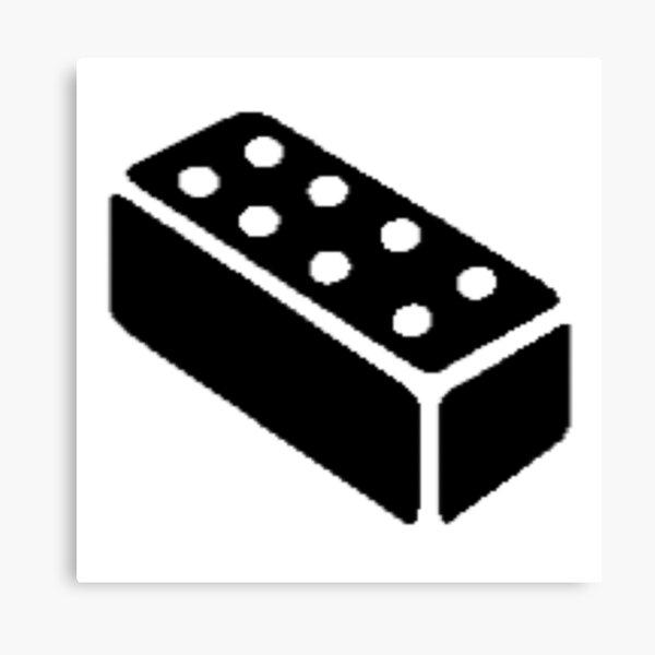 The Last Of Us Bricks Symbol Canvas Print