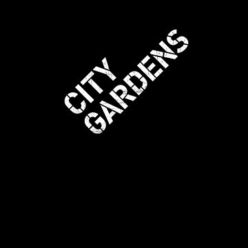 City Gardens - Stage Wall Stencil Design by Fitcharoo