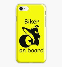 Biker on board 3 iPhone Case/Skin
