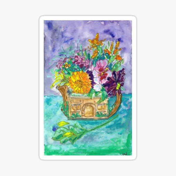 Teapot Floral Sticker