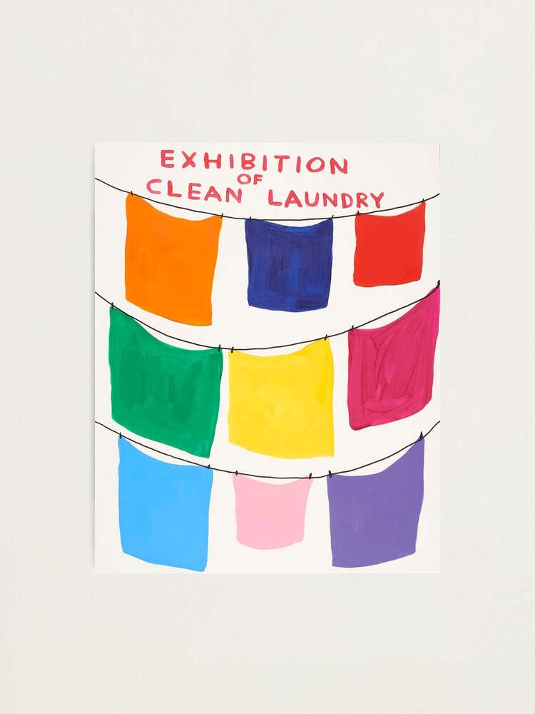 Alternate view of Exhibition Davids Of Clean Laundry Photographic Print