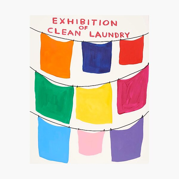 Exhibition Davids Of Clean Laundry Photographic Print