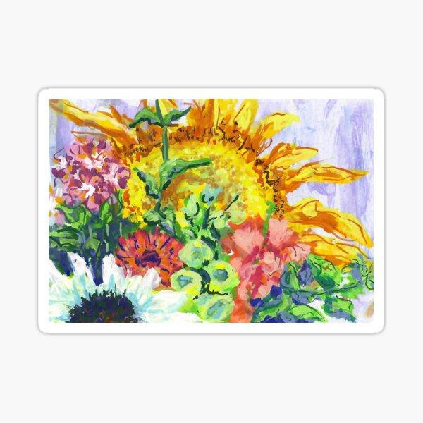 Sunflower and Foxglove Sticker