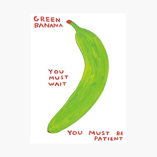 Green Banana Davids Must Wait Photographic Print