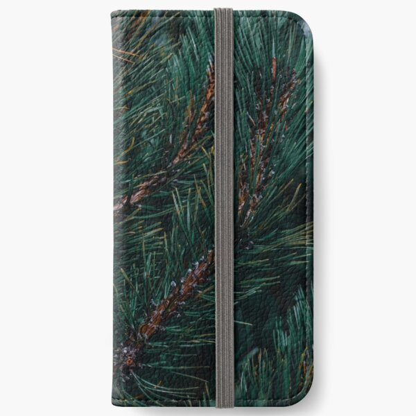 Pine Cone Tree Closeup iPhone Wallet