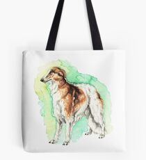 Watercolor borzoi Tote Bag