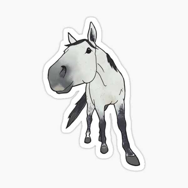 Artex - Quarter Horse gris Sticker