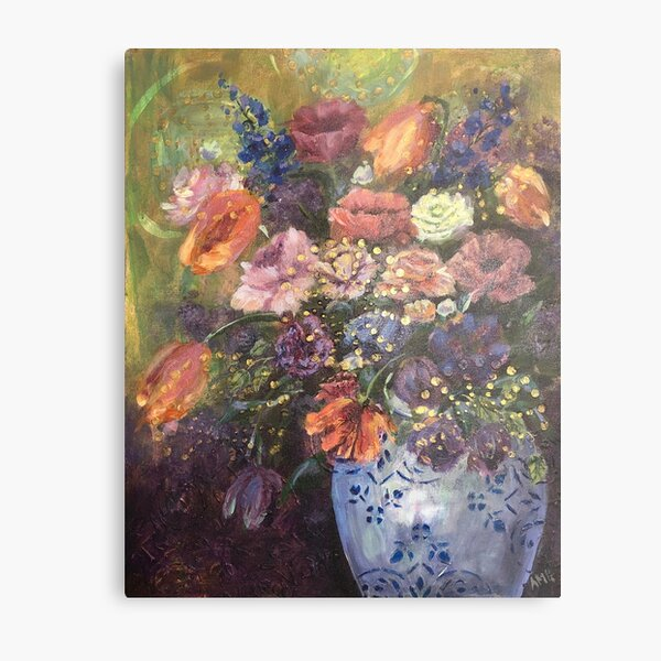 Tulips, Roses and Poppies Metal Print