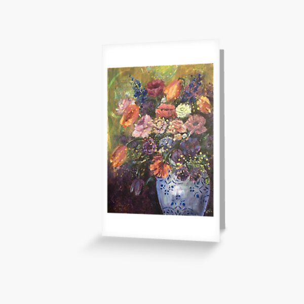 Tulips, Roses and Poppies Greeting Card