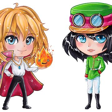 Howl's Moving Castle Chibis by Dacdacgirl