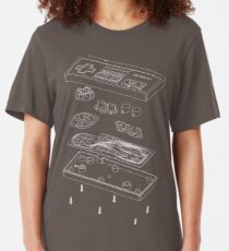 NES: Just the Guts (white) Slim Fit T-Shirt