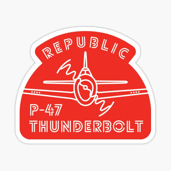 P-47 Thunderbolt neon red Sticker
