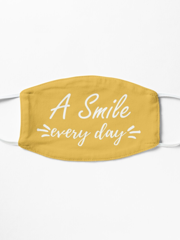 Alternate view of A Smile Everyday Positivity Cute Smiling Gift Mask