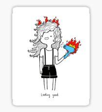 On Fire by Sarah Pinc Sticker