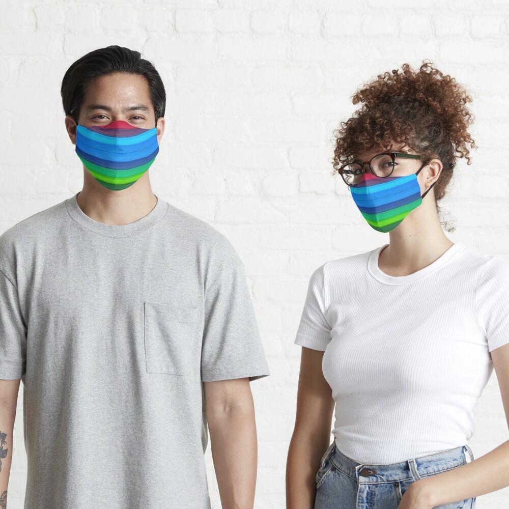 Rainbow Stripes Mask