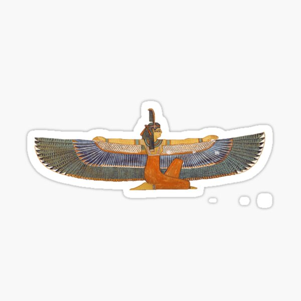 Egyptian Goddess Ma'at Design Sticker