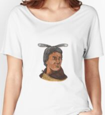 Maori Chief Warrior Bust Watercolor Women's Relaxed Fit T-Shirt