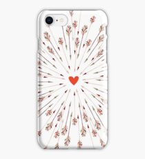 arrows and heart iPhone Case/Skin