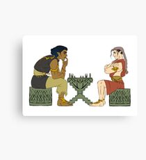 Evil chess Canvas Print