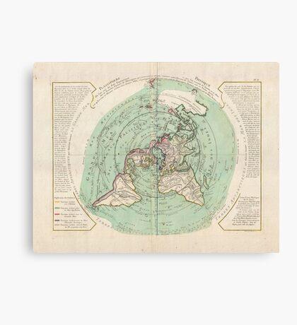 AE MAP Flat Earth Canvas Print