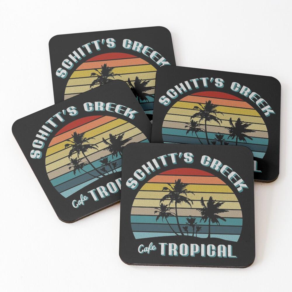 Schitt's Creek: Café Tropical  Coasters (Set of 4)