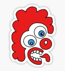 Disoriented Clown Sticker