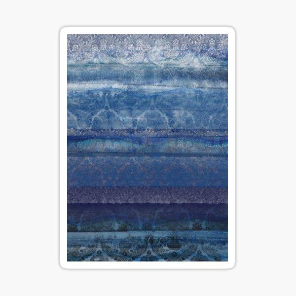 Textural Blue Sticker